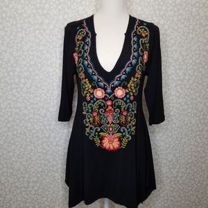 Soft Surroundings ADORA Embroidered Tunic